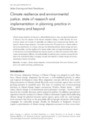 Climate resilience and environmental justice: state of research and implementation in planning practice in Germany and beyond