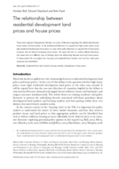 The relationship between residential development land prices and house prices