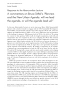 A commentary on Bruce Stiftel's 'Planners and the New Urban Agenda: will we lead the agenda, or will the agenda lead us?'