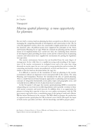 Viewpoint: Marine spatial planning: a new opportunity for planners