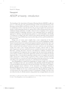 Viewpoint: AESOP at twenty: introduction