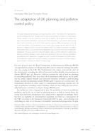 The adaptation of UK planning and pollution control policy