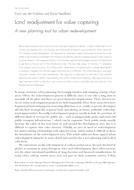 Land readjustment for value capturing: A new planning tool for urban redevelopment