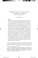 The British Council in wartime Liverpool: cosmopolitanism, colonialism and the colour Bar