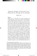 'Democratic Principles and Aristocratic Tastes': William Roscoe's Patronage and Art Collecting