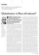 Globalisation: Is Marx still relevant?