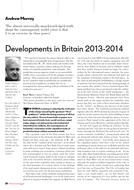 Developments in Britain 2013-2014