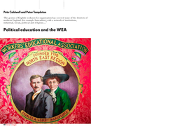 Political education and the WEA