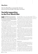 Socialist opposition to the First World War