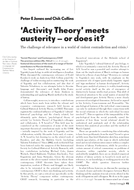 'Activity Theory' meets austerity – or does it?