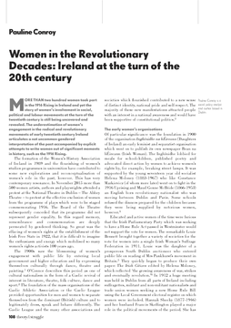 Women in the Revolutionary Decades: Ireland at the turn of the 20th century