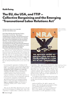 The EU, the USA, and TTIP – Collective Bargaining and the Emerging 'Transnational Labor Relations Act'