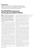 The Modi Phenomenon in Contemporary Indian Politics