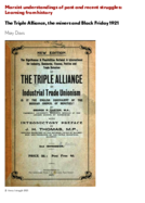 The Triple Alliance, the miners and Black Friday 1921