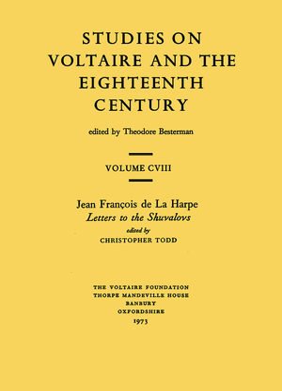 Jean François de la Harpe, 'Letters to the Shuvalovs'