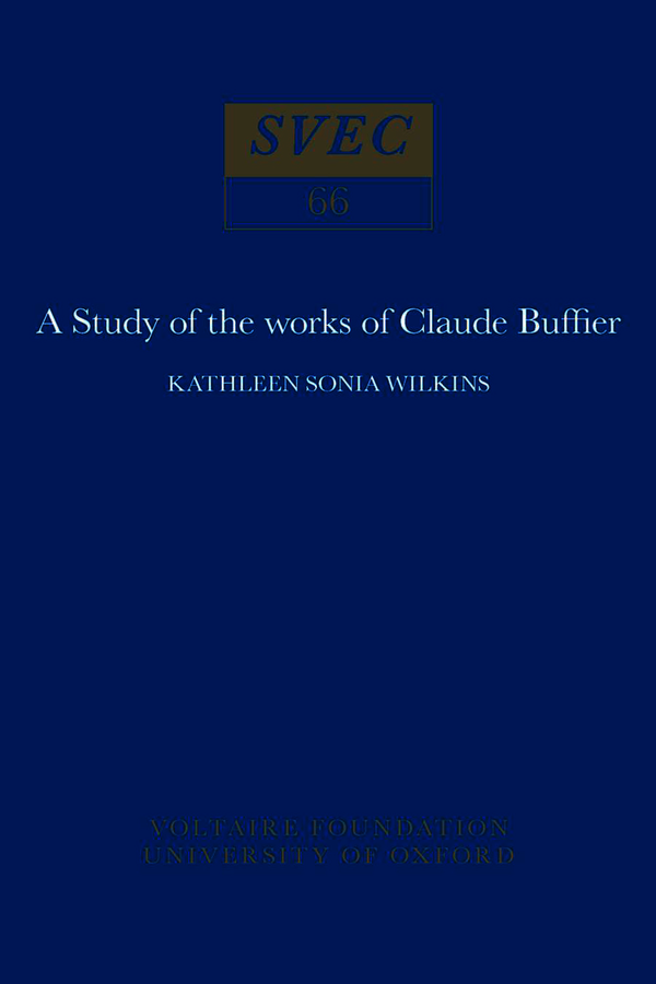 Study of the works of Claude Buffier