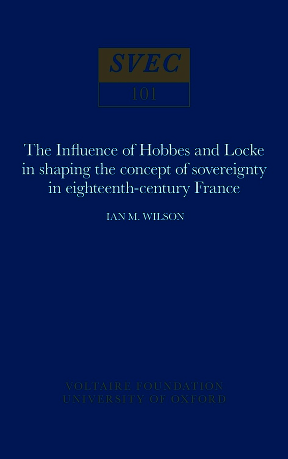 The Influence of Hobbes and Locke in the shaping of the concept of sovereignty in eighteenth-century France