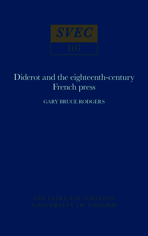 Diderot and the Eighteenth-Century French Press