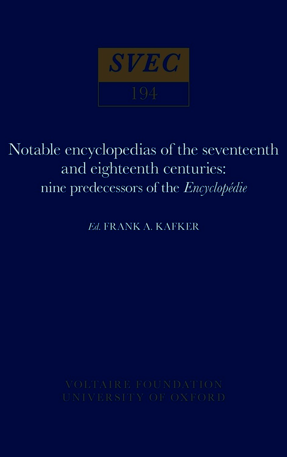 Notable encyclopedias of the seventeenth and eighteenth centuries