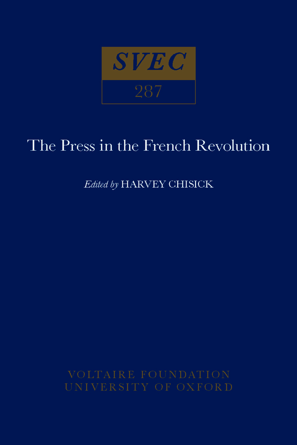 The Press in the French Revolution