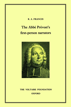 The Abbe Prevost's First-Person Narrators