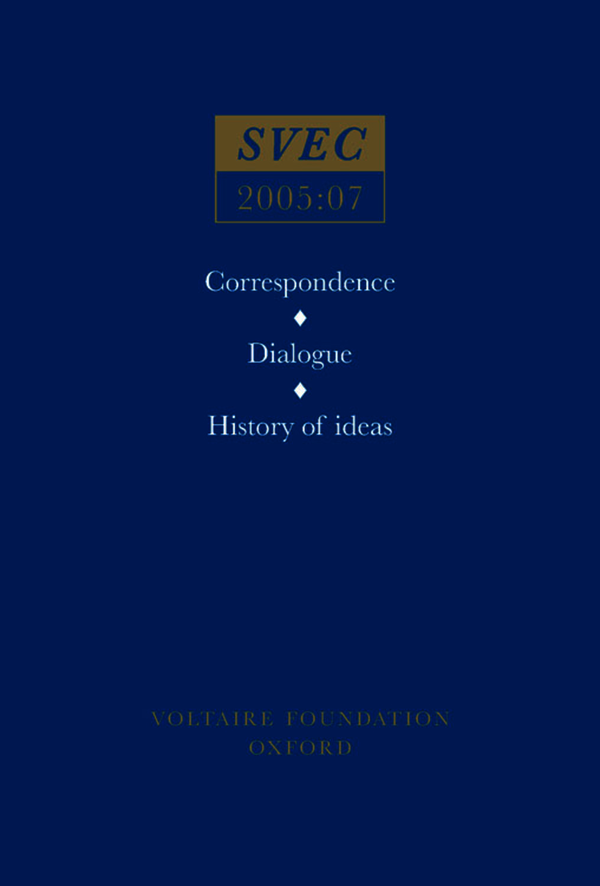 Correspondence; Dialogue; History of ideas