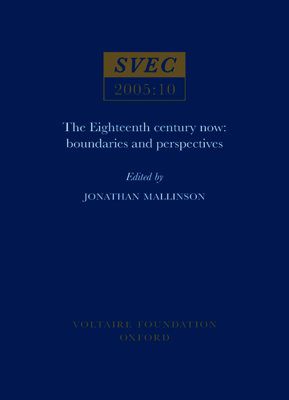 The Eighteenth Century Now