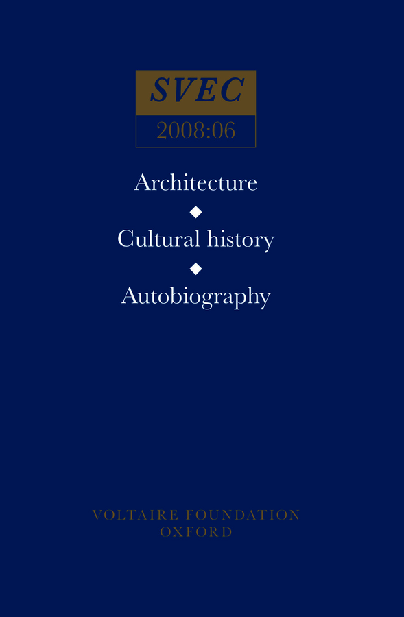 Architecture, Cultural History, Autobiography