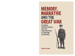 Memory, Narrative and the Great War