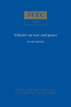 Voltaire on War and Peace