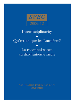 Qu'est-ce que les Lumières?; La reconnaissance au dix-huitième siècle; History of art; History of ideas