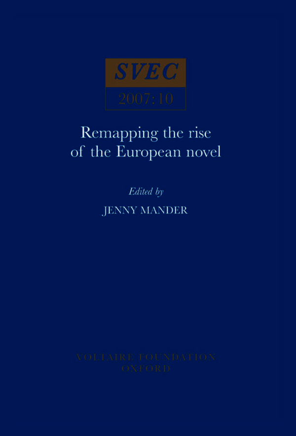 Remapping the Rise of the European Novel