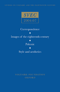 Correspondence; Images of the eighteenth century; Polemic, Style and aesthetics