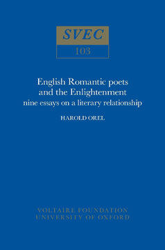 English Romantic Poets and the Enlightenment
