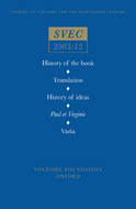 History of the book; Translation; History of ideas; Paul et Virginie; Varia