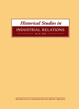 Historical Studies in Industrial Relations, Volume 41 2020