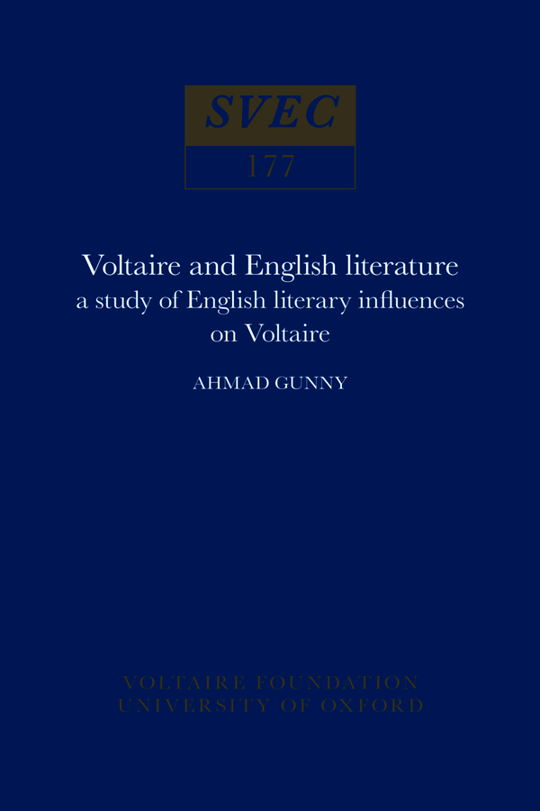 Voltaire and English Literature