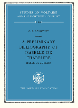 A preliminary bibliography of Isabelle de Charrière (Belle de Zuylen)