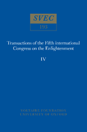 Transactions of the Fifth International Congress on The Enlightenment / Actes du Cinquième Congrès International des Lumières / Atti del Quinto Congresso Internazionale Sull'illuminiso