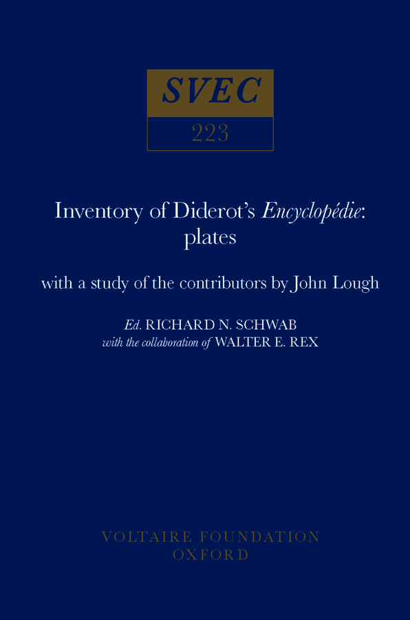 Inventory Of Diderot's Encyclopédie: Plates