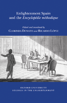 Enlightenment Spain and the 'Encyclopédie Méthodique'