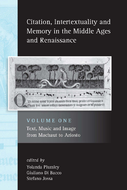 Citation, Intertextuality and Memory in the Middle Ages and Renaissance volume 1