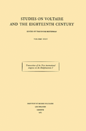 Transactions of the First International Congress on the Enlightenment