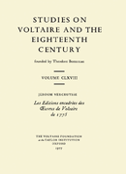Les Editions encadrées des œuvres de Voltaire de 1775