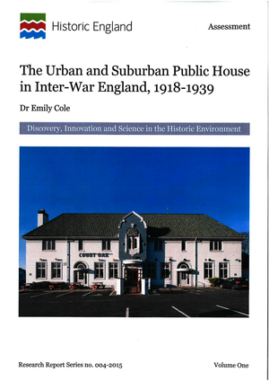 The Urban and Suburban Public House in Inter-War England, 1918-1939