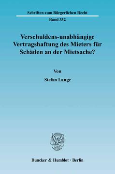 Duncker Humblot Berlin Verschuldens Unabhängige Vertragshaftung